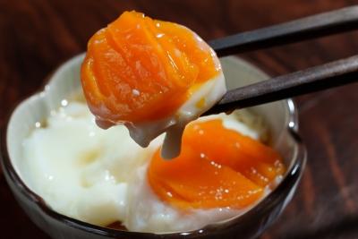 低温調理器「BONIQ Pro」で調理した固めの温泉卵